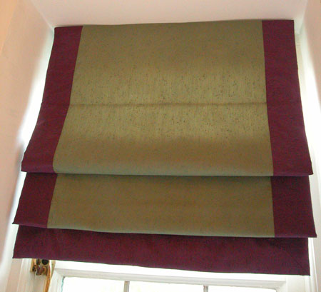Roman Blinds - patterned and made to measure custom blinds